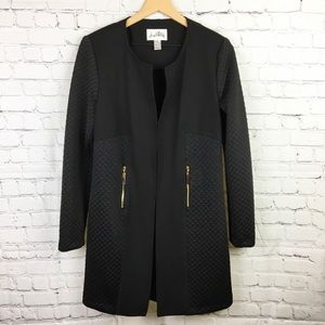 Joseph Ribkoff Quilted Black Mid Length Jacket 8